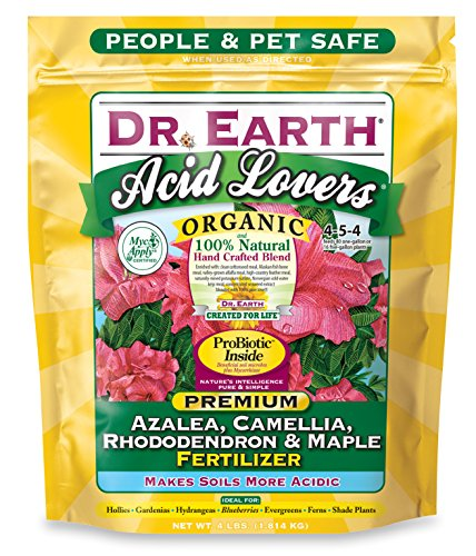 Dr. Earth 703P Organic 4 Azalea/Camellia/Rhododendron Acid Fertilizer in Poly Bag, 4-Pound (Best Soil For Azaleas)