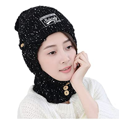 Wool Ear Protector Knitted Hat Warm Autumn Winter Fashion Hat Outdoor Hat  Men Women Hat (Burgundy  Black  Grey) at Amazon Women s Clothing store  ee2af8bc1efd