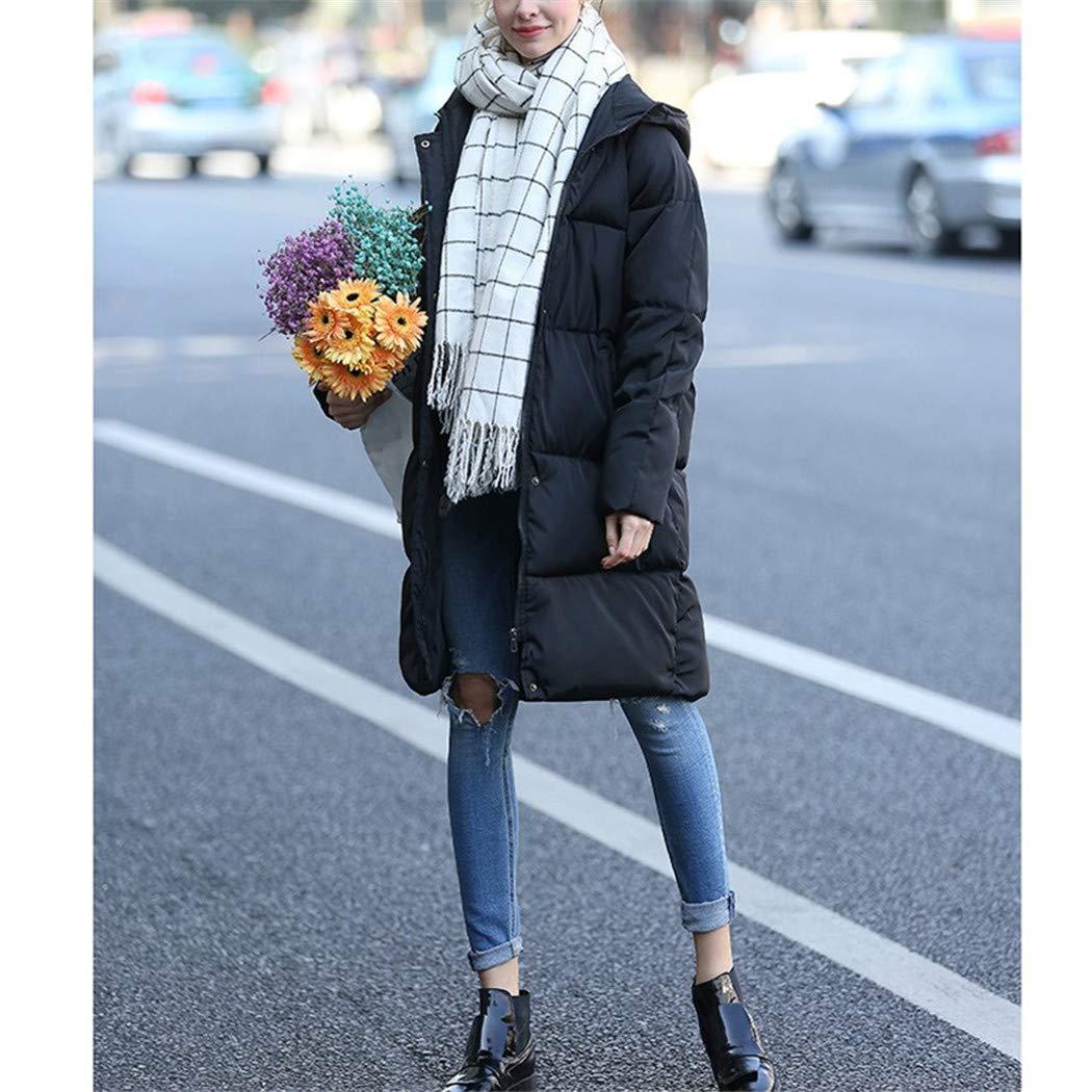 Amazon.com: AOJIAN Women Jacket Long Sleeve Outwear Thick Hooded Button Zipper Puffer Maxi Solid Coat: Clothing