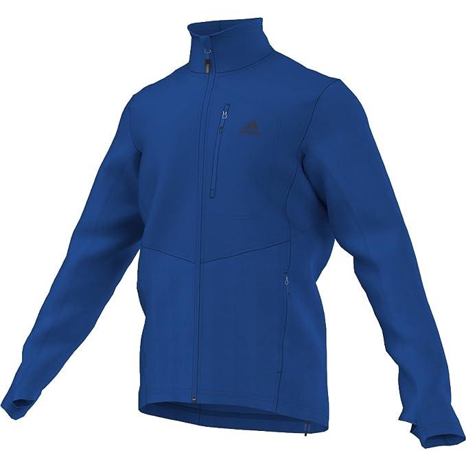 adidas jacke fleece reachout blau