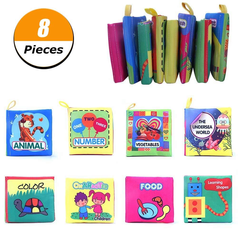 Loving Home Set 8 Babies Toddler Interactive Book Cloth Book Kindergarten Preschool Development Learning