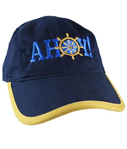 868de0c417e Ahoy! Nautical Boat Wheel Greeting Embroidery on a Polo Style 5 ...