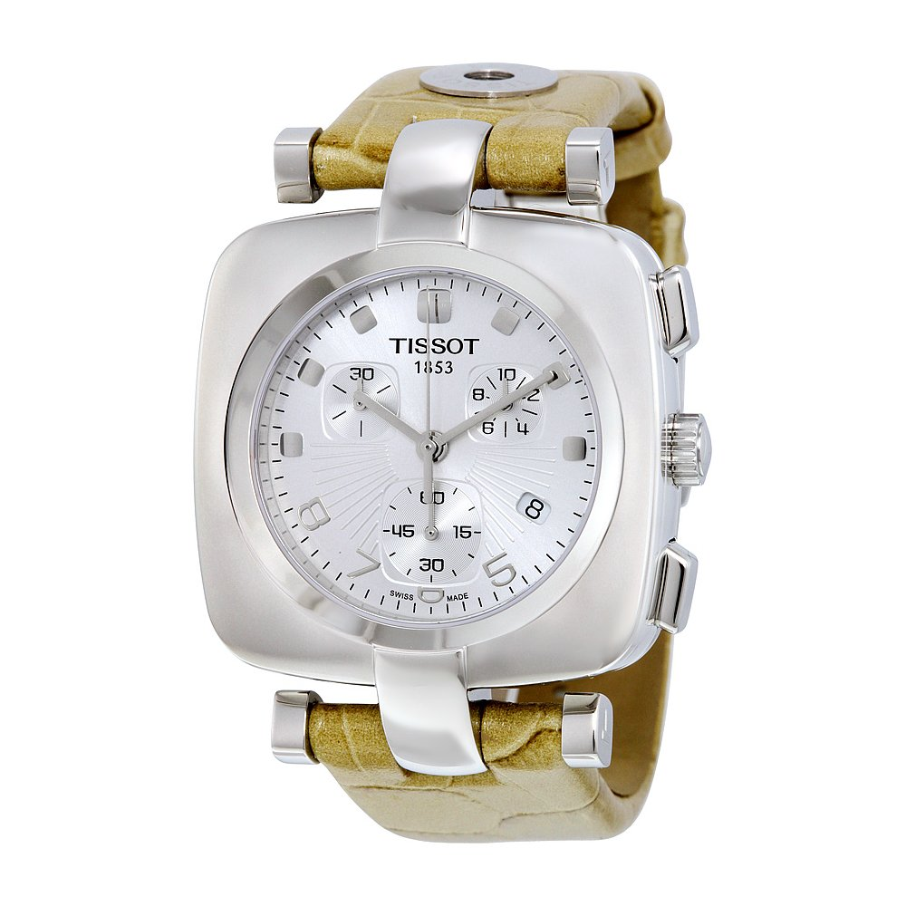 Tissot Women's T0203171603700 T-Trend Odaci-T Chronograph Beige Leather Watch by Tissot