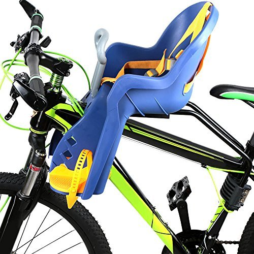 Lixada Child Bike Seat Baby Kids Bicycle Carrier Front Baby Seat with Handrail by Lixada
