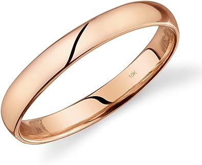 Amazon.com: Alianza de matrimonio de 1/8 de pulgada de oro ...