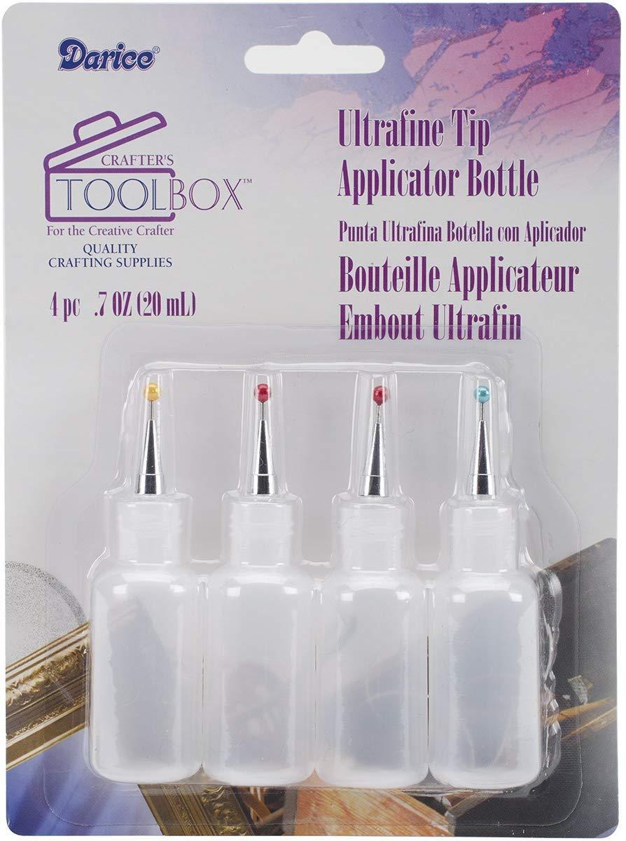 Darice Ultrafine Tip Applicator Bottle, 20ml, 20-ml, Clear