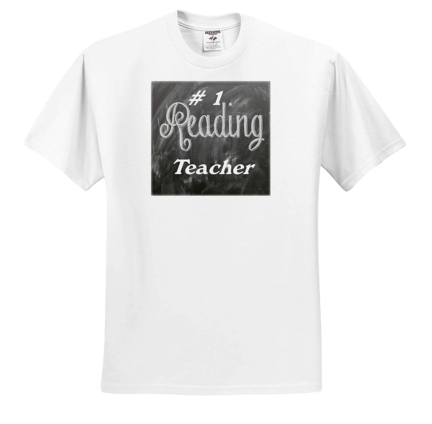 Image of Words Number 1 Reading Teacher On Blackboard ts/_316554 Adult T-Shirt XL 3dRose Lens Art by Florene