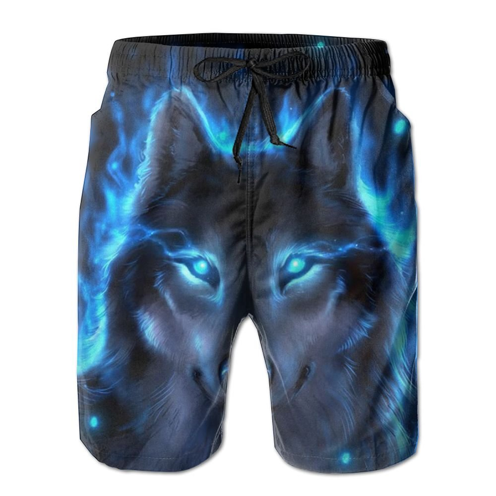 Silver Wolf Men's Casual Beach Board Shorts Quick-drying Swim Trunks