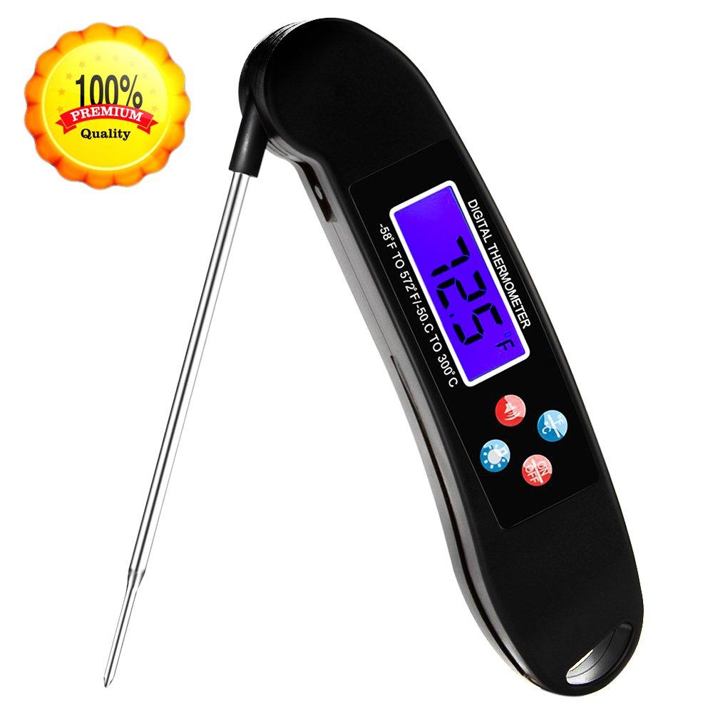 Termómetro de cocina digital termómetro de carne Instand leer barbacoa cocina thermomerters con pantalla LCD: Amazon.es: Hogar
