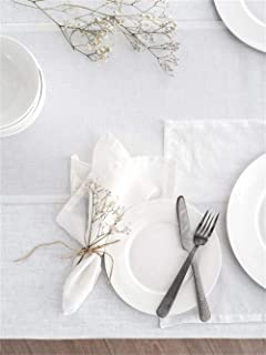 One of lifes little home luxuries Natural Color by Linen Clubs 100/% Pure Linen Rustic Dinner Napkin with Hem Stitched 16x16 PACK of 12 Hemstitched hand made ladder lace look napkins