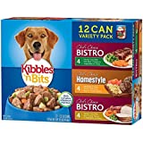 Kibbles 'n Bits Wet Dog Food Variety Pack Featuring Meatballs & Pasta Dinner With Real Beef in Tomato Sauce