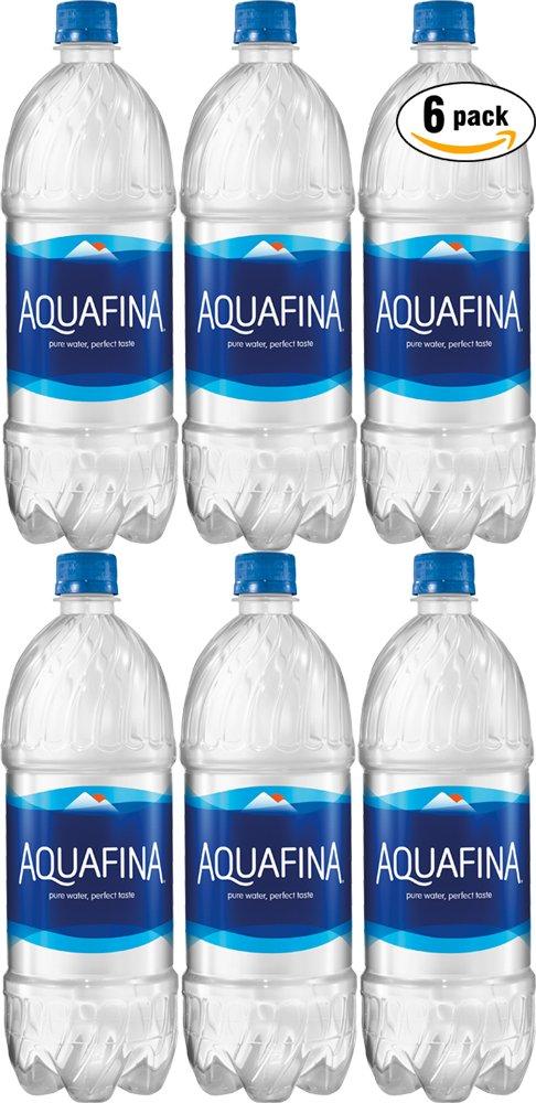 Aquafina Water, Pure Water, Perfect Taste, 33.8 Fl Oz (Pack of 6, Total of 202.8 Fl Oz)