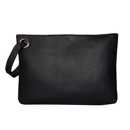 342e3a8e0f5 Mily Oversized Clutch Bag Purse Envelop Clutch Chain Tote Shoulder Bag  Handbag Foldover Pouch Black
