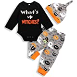 My First Halloween Baby Girl Boy Clothes Newborn Baby Outfits with Headband and Leg Warmer Sets 3PC