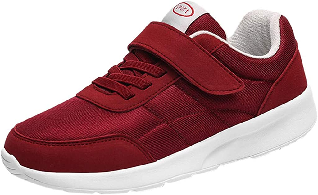 FDSD Women Sport Shoes Womens Shoes Velcro Slip-On Sneakers Loafers For The Elderly Shoes