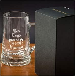 Calledelregalo Regalo Personalizado: Jarra de Cerveza Personalizada en Estuche (Jarra grabada con Texto): Amazon.es: Hogar