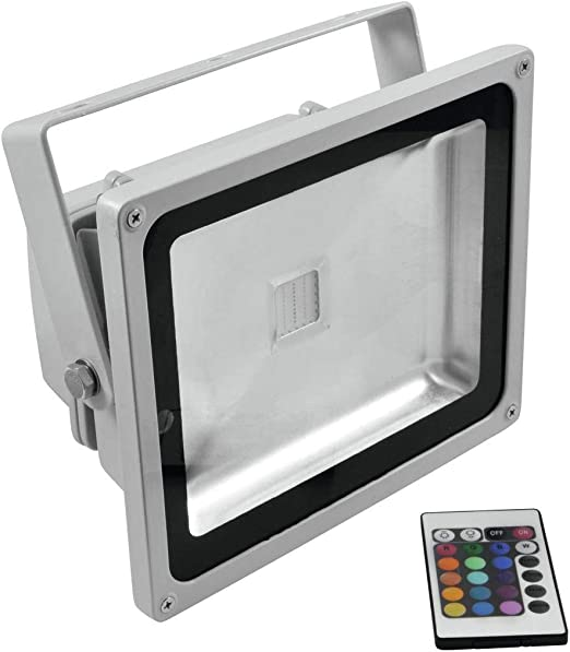 Reflector LED RGB BARREX 230V / 30W, IP65, 120 °, con mando a ...