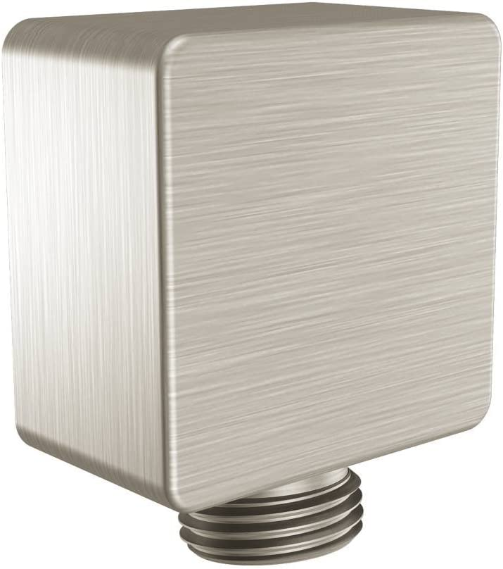 Moen A721BN Square Drop Ell Handheld Shower Wall Connector, Brushed Nickel