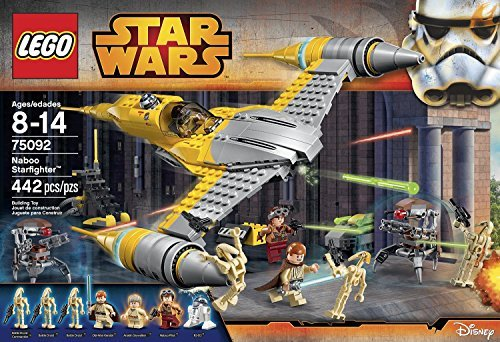 LEGO Star Wars Combat Vehicles Naboo Starfighter (442pcs) Figures Building Block Toys (Naboo Wars Starfighter Star)