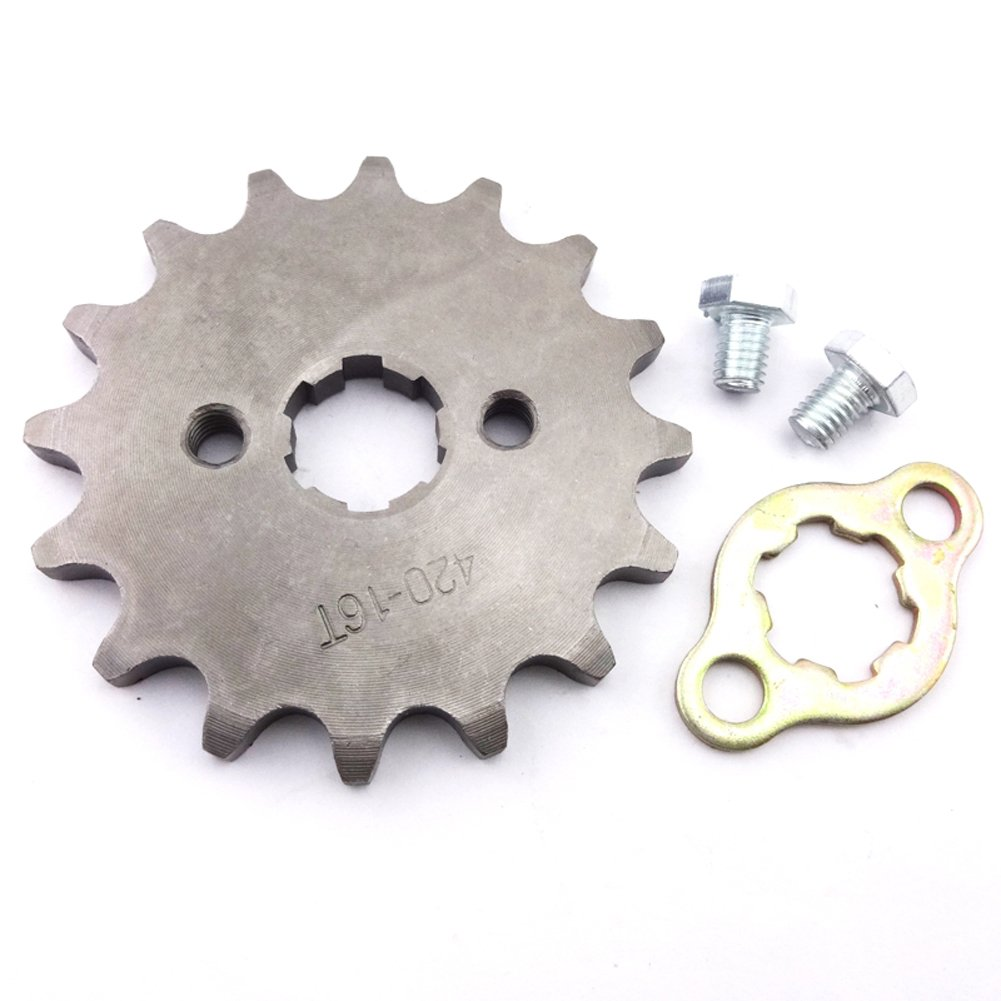 Race-Guy 420 16 Tooth 17mm Front Chain Sprocket Gear 50cc 70cc 90cc 110cc 125cc 140cc 150cc 160cc Engine ATV Quad Pit Dirt Trail Bike
