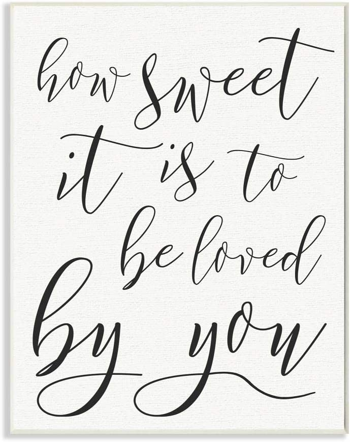 Stupell Industries How Sweet It Is Typography Oversized Wall Plaque Art, Proudly Made in USA