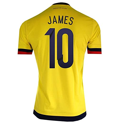 1544b59e1 Amazon.com  James  10 Colombia Home Soccer Jersey 2015 (S)  Clothing