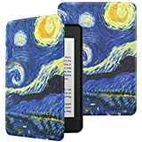 MoKo Case Fits Kindle Paperwhite (10th Gen, 2018 Releases), Premium Ultra Lightweight Shell Cover with Auto Wake/Sleep for Amazon Kindle Paperwhite 2018 E-Reader - Starry Night