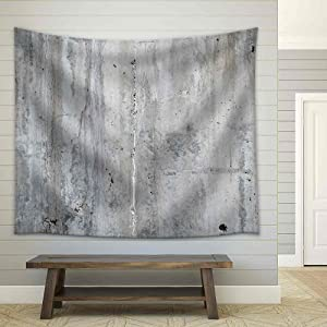 wall26 - Grunge Concrete Wall, High Resolution Background Texture Image - Fabric Wall Tapestry Home Decor - 68x80 inches