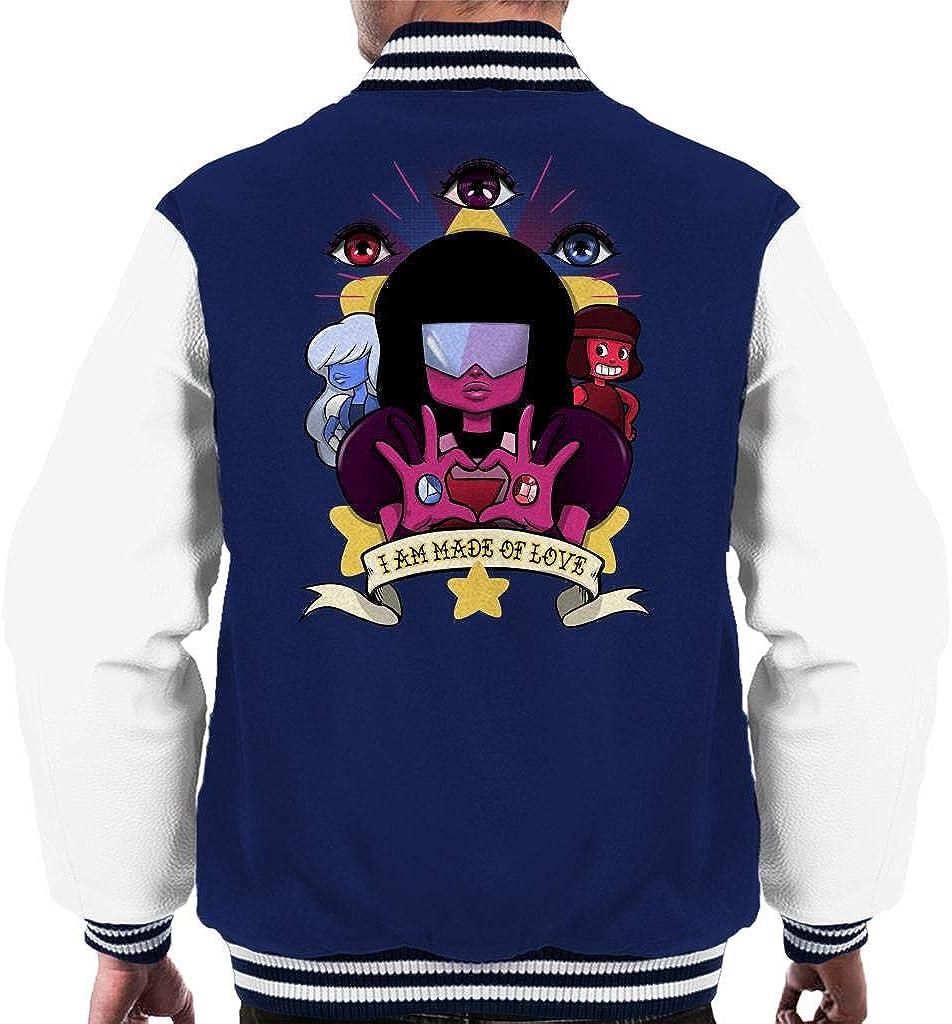 Cloud City 7 Steven Universe Made of Love Mens Varsity Jacket: Amazon.es: Ropa y accesorios