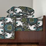 Roostery African 3pc Sheet Set African Wax Print by Janelle Wooten Twin Sheet Set made with
