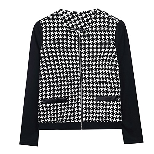 CHICFOR Women's Plaid Slim Casual Spring Summer Blazer Suit Jacket Coat Outerwear
