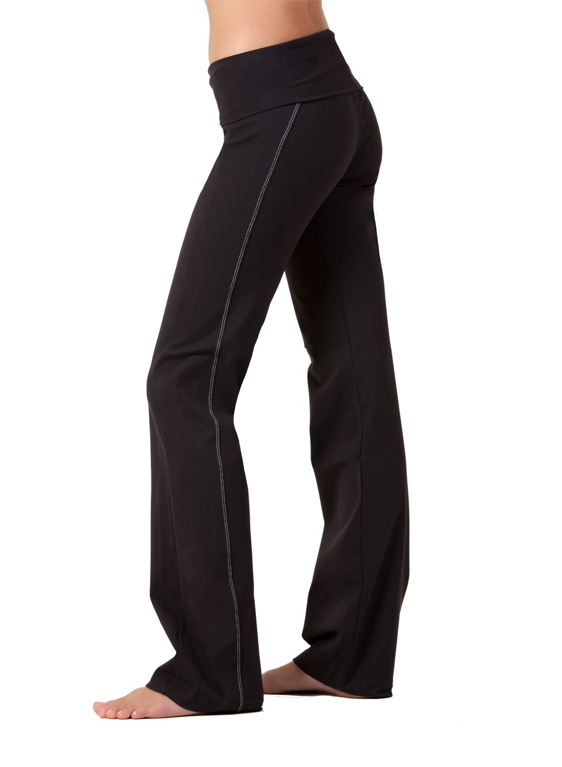 Top-stitched Yoga Pants by Fit Couture, M-31'', Black