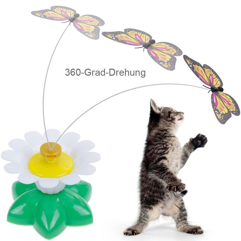 Lictin Katzenspielzeug Katze Spielen drehendem Schmetterling Elektrische Rotierende Spielzeug