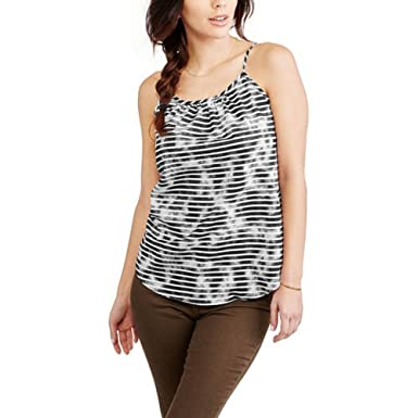 adfe0826ba749 Faded Glory Women s Essential Woven Cami Tank Top at Amazon Women s  Clothing store