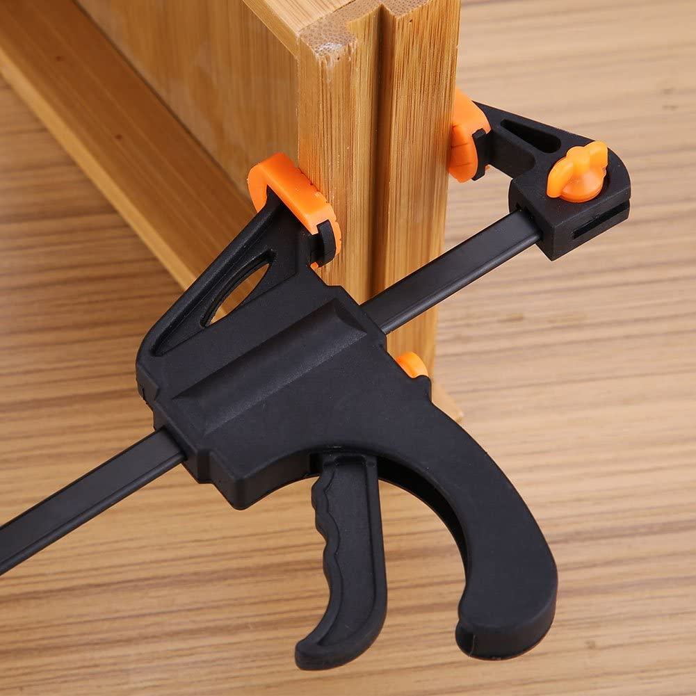 4-12Inch F-Clamp Ratchet Release Grip Furniture Woodworking Bar Repair Hand Tool