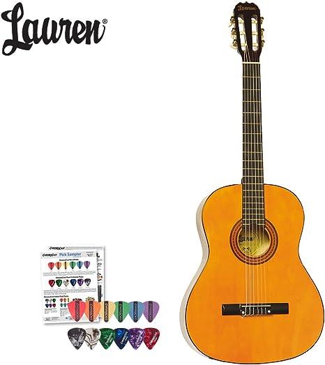 Lauren – Guitarra acústica clásica (la100 C) con ChromaCast ...