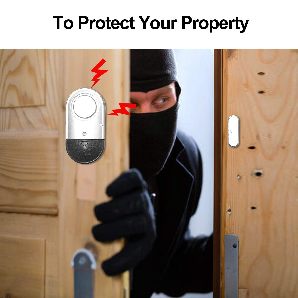 Amazon.com: Toeeson 120DB - Alarma para ventana de puerta ...