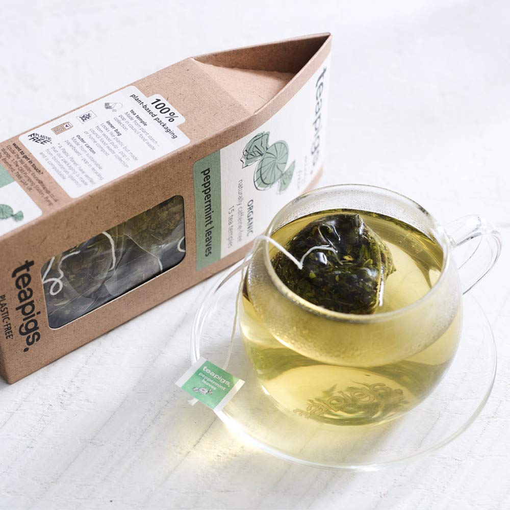 Teapigs Peppermint Leaves Tea Bags Made with Whole Leaves (1 Pack of 15 Tea Bags