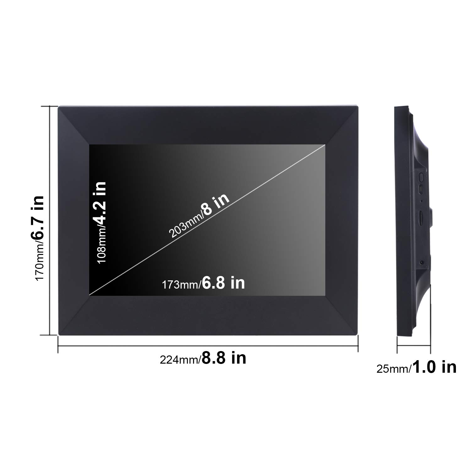 Dhwazz 8 Inch WiFi Digital Photo Frame, IPS Electronic Picture Frame with LCD Touch Screen, 8GB Internal Storage, Wall-Mountable, Display and Share Photos Instantly via Mobile APP by Dhwazz (Image #7)