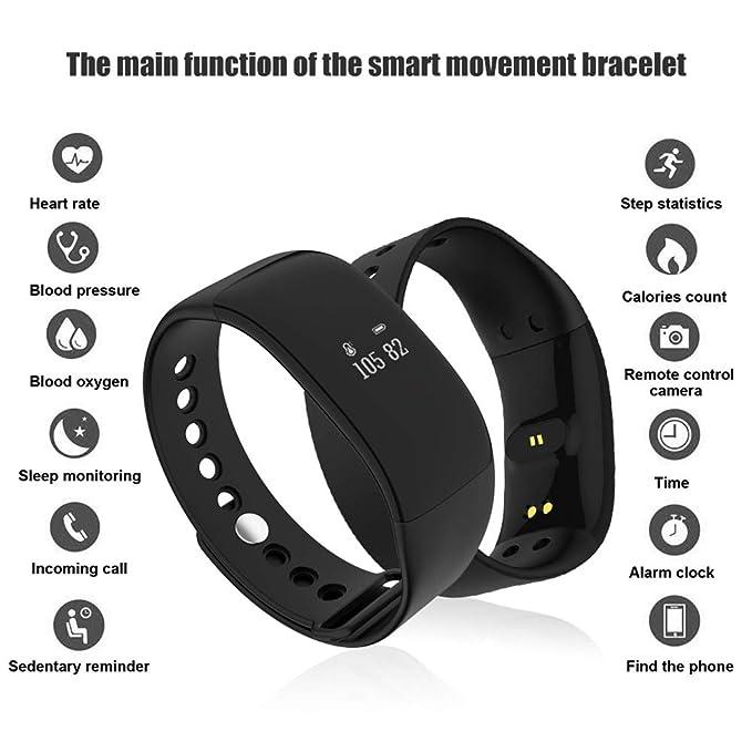 Annotebestus V66 Fitness Tracker Smartwatch, Bluetooth 4.0, Reloj ...