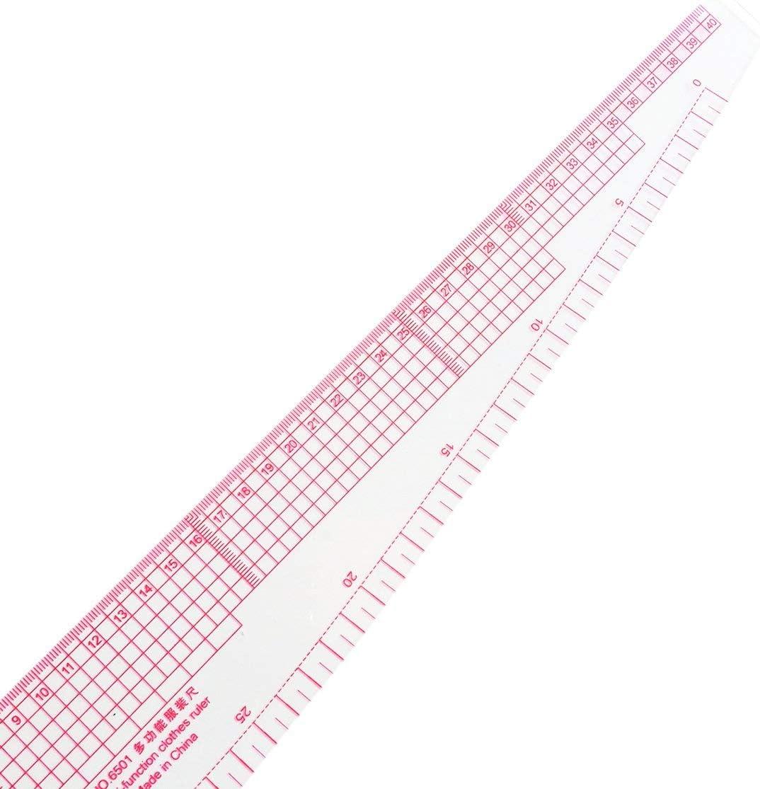 LouiseEvel215 Multifunci/ón 6501 pl/ástico franc/és curva curva regla de costura medida sastre regla Hacer ropa 360 grados curva regla herramientas