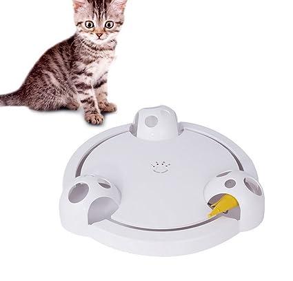 Premewish Juguetes interactivos para Mascotas, Gato, Eléctrico, automático, Giratorio, Juguete Giratorio