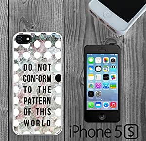 Conformity Quote Romans 21 - 2 Custom made Case/Cover/Skin FOR iPhone 5/5s