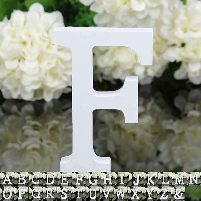 Busirde 26 Grandi Lettere di Legno Alfabeto attaccatura di Parete della Festa Nuziale di Home Shop Decoration