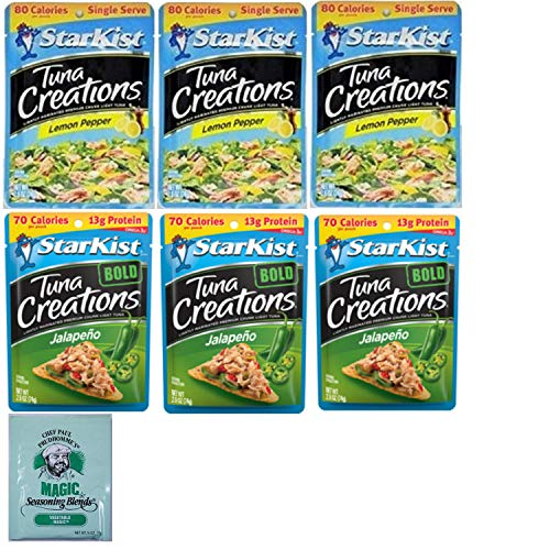 Starkist Packet Tuna Creations Combo. Lemon Pepper and Bold Jalapeno. Easy Shopping For 2 Popular Low Carb Free Protein Tuna Pouches. Delicious Fresh Meal Kits. Includes Magic Seasoning Blends Sample. ()