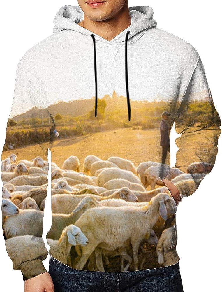 Mens Hooded Sweatshirt Long Sleeve Hoodie Ninh Thuan Province Vietnam Apr 15 Animals People Pullovers Sweaters Big Pockets