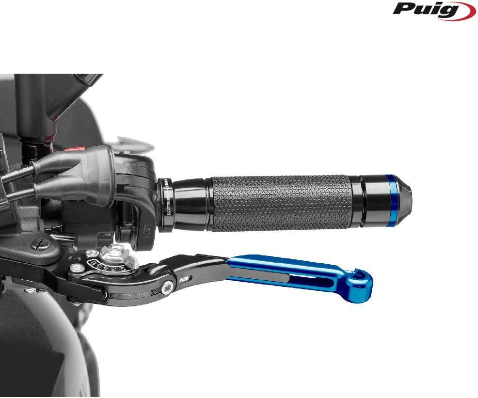 Puig 29ANP 2.0 Extendable Folding Clutch Lever with Silver Selector Black