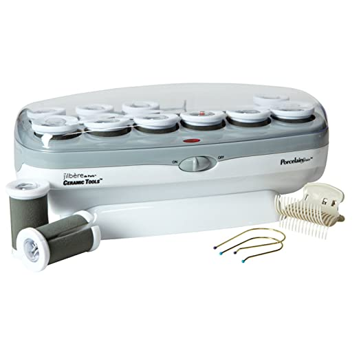 Conair Pro Porcelain Series Ceramic Hair Curler, 12 Rollers - Best Heated Curlers for Fine Hair That Is Long