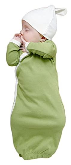 amazon com newborn baby sleep gowns solid color long sleeve toddler