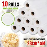 Vacuum Food Sealer Roll Bags 28cm X 5m Saver Seal Storage Heat Commercial Grade Bag Rolls for Food Saver and Sous Vide (10)